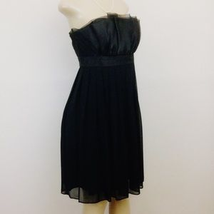 WHBM Dress Black Size 6 Strapless Cocktail/Party